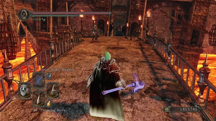 Dark Souls 2 Mastodon Halberd gameplay screenshot