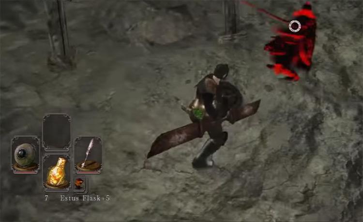 Dark Souls 2 Red Iron Twinblade gameplay screenshot