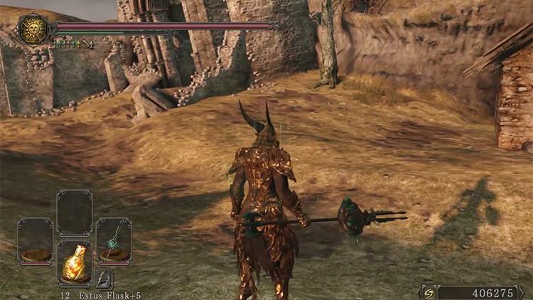 Dark Souls 2 Gargoyle Bident gameplay screenshot