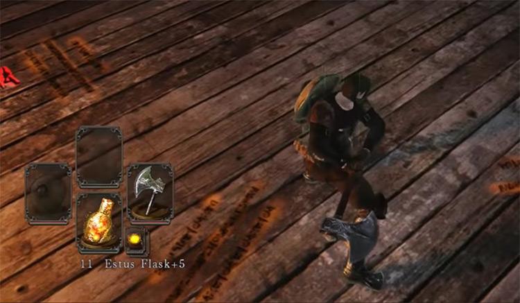 Dark Souls 2 Bandit Axe gameplay screenshot