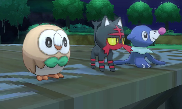 Pokemon Sun and Moon Starter Options Screenshot
