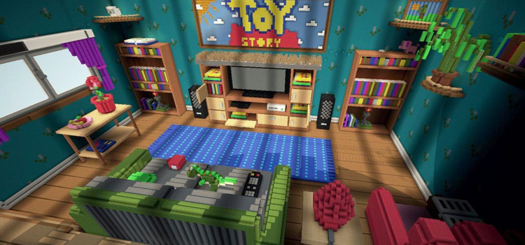 Toy Story 2 Living Room Map in Minecraft