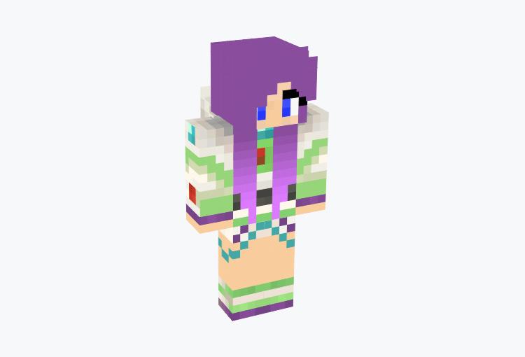 Female Buzz Lightyear Skin for Minecraft