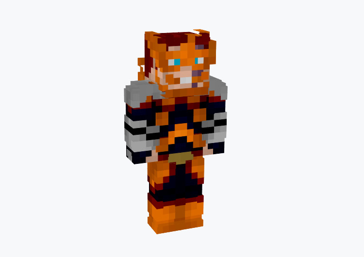 Enji Todoroki from BNHA / Minecraft Skin