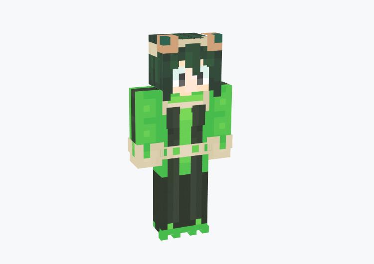 Tsuyu Asui from BNHA / Minecraft Skin