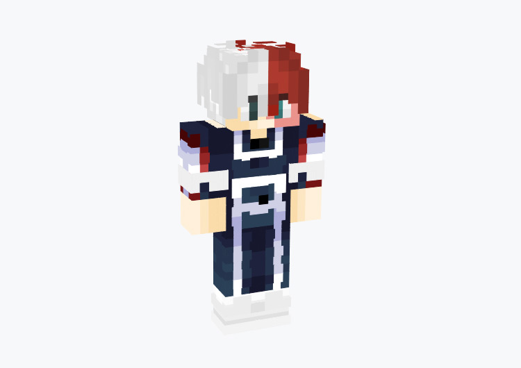 Shoto Todoroki from BNHA / Minecraft Skin