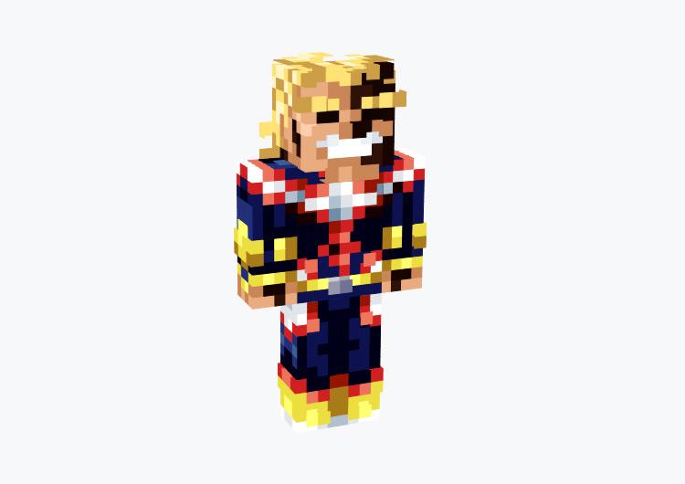 Regular All Might from BNHA / Minecraft Skin