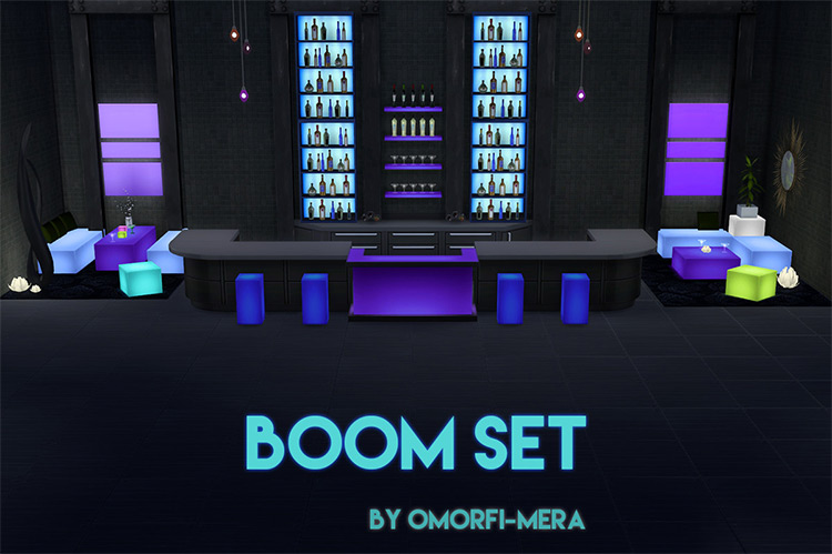 Boom Club Furniture Set / Sims 4 CC