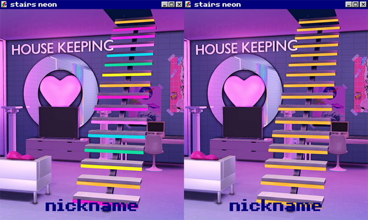 Neon Stairs / Sims 4 CC