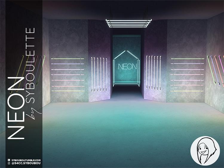 Neon Bar Lights Set / Sims 4 CC