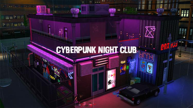 Cyberpunk Nightclub Lot / The Sims 4