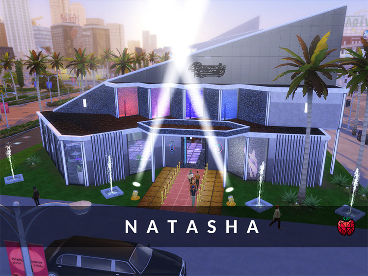 Natasha Nightclub Lot for The Sims 4