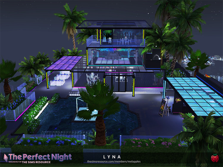 Lyna Rooftop Nightclub Lot for The Sims 4