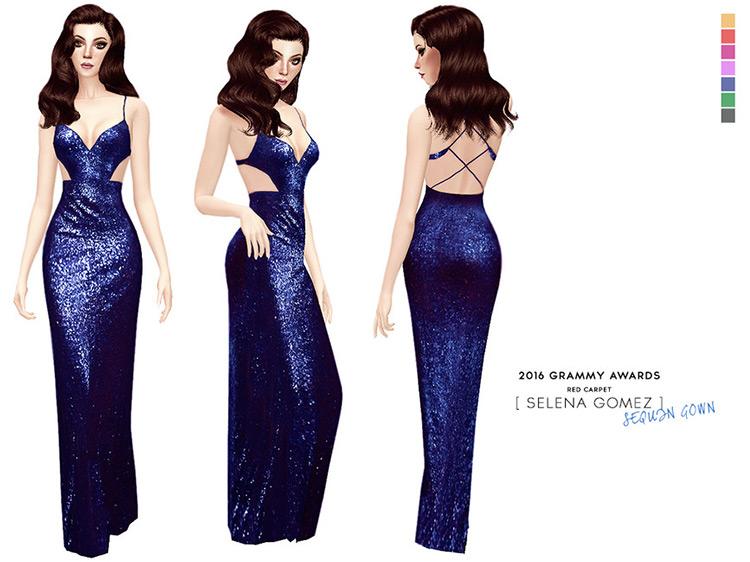 Selena Gomez 2016 Grammy Awards Dress / Sims 4 CC