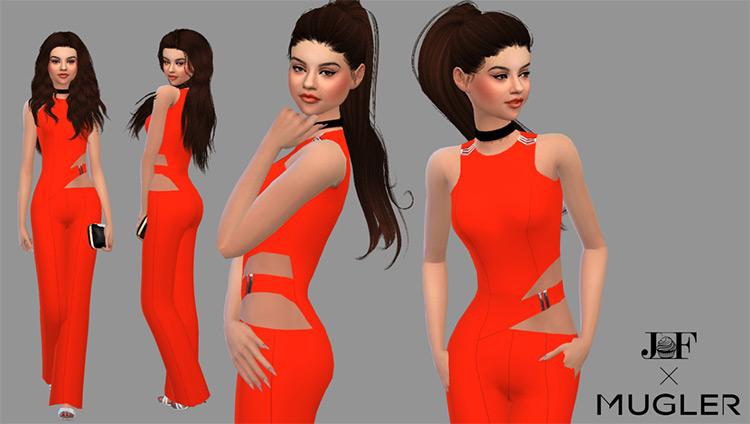 Selena Gomez Orange Jumpsuit / TS4 CC