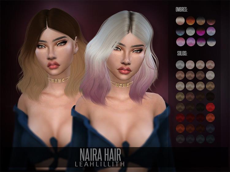 Selena Gomez Naira Hair / Sims 4 CC