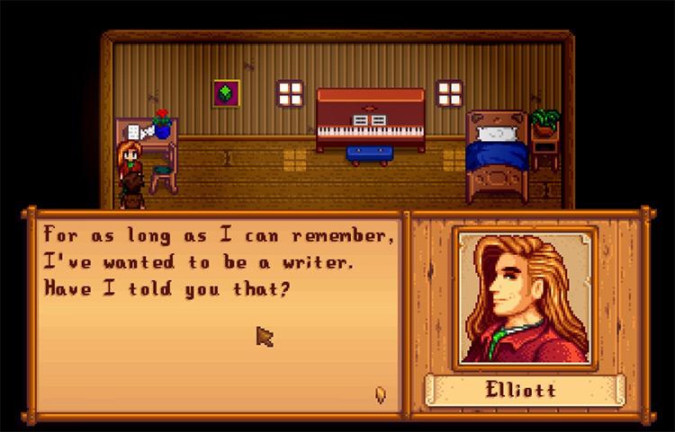 Elliott in Stardew Valley Screenshot