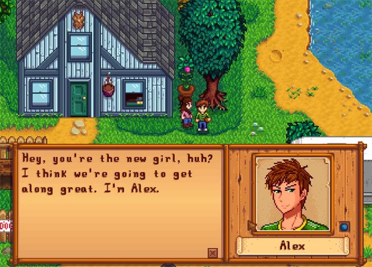 Alex in Stardew Valley Screenshot