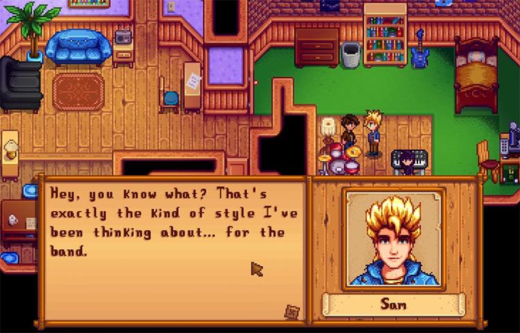 Sam in Stardew Valley Screenshot