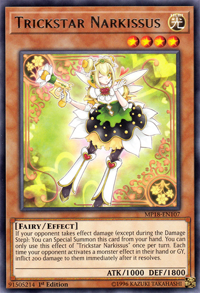 Trickstar Narkissus Yu-Gi-Oh Card