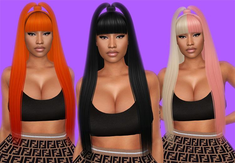 Kandy Hairdo like Nicki Minaj / Sims 4 CC