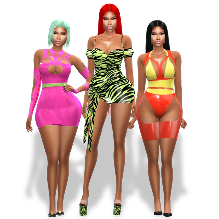 Hot Girl Summer Swimsuits for The Sims 4
