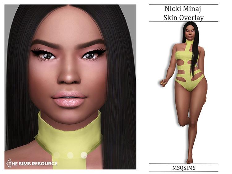 Nicki Minaj Skin Overlay for The Sims 4