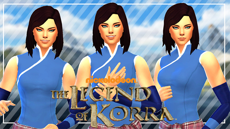 Korra's Outfit for The Sims 4