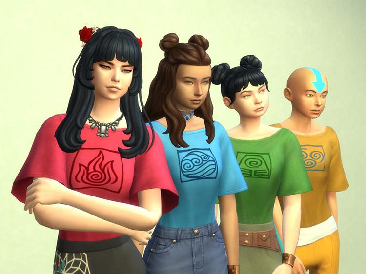 Four Tribes T-Shirt Set / Sims 4 CC