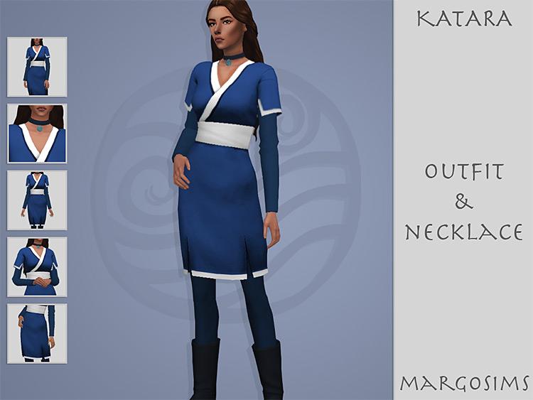 Katara Outfit & Necklace / TS4 CC