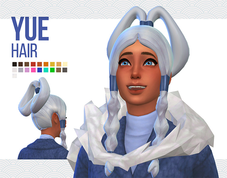 Water Tribe Hairstyles from Avatar / Sims 4 CC