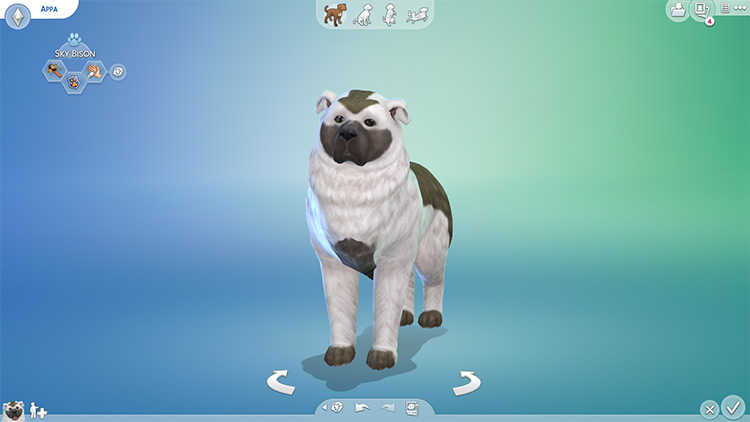 Appa the Dog from Avatar Last Airbender / Sims 4