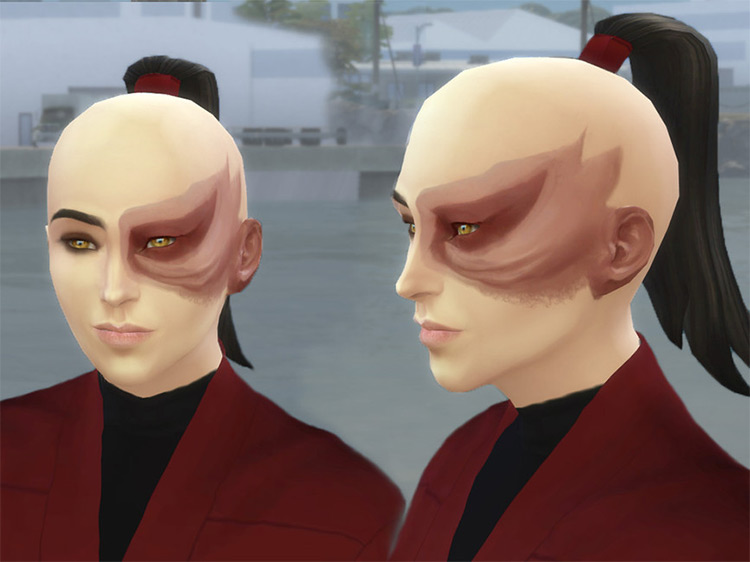 Zuko's Burn Scars CC for The Sims 4
