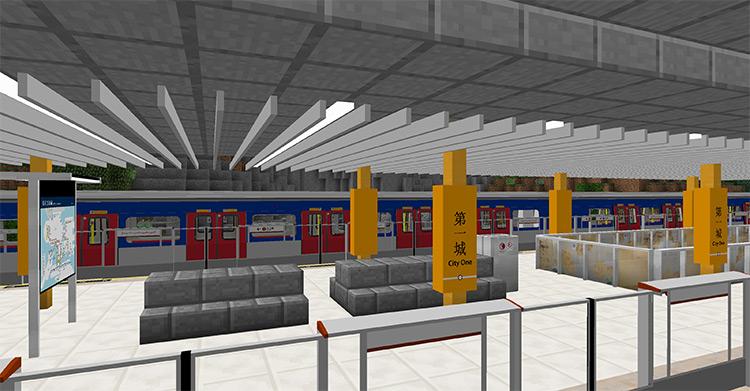 Minecraft Transit Railway MC mod preview