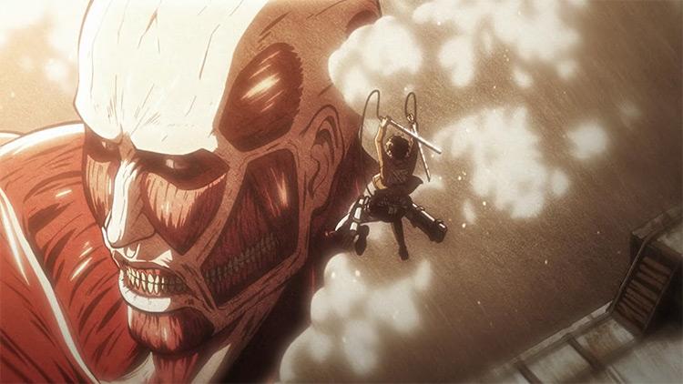 Attack on Titan Opening Song Guren no Yumiya screenshot