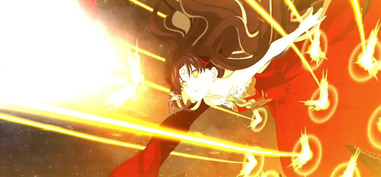 FGO Space Ishtar Attack Screenshot