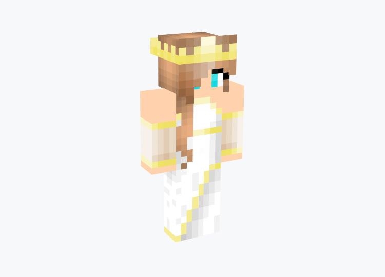 Golden Queen with blonde hair / Minecraft Skin