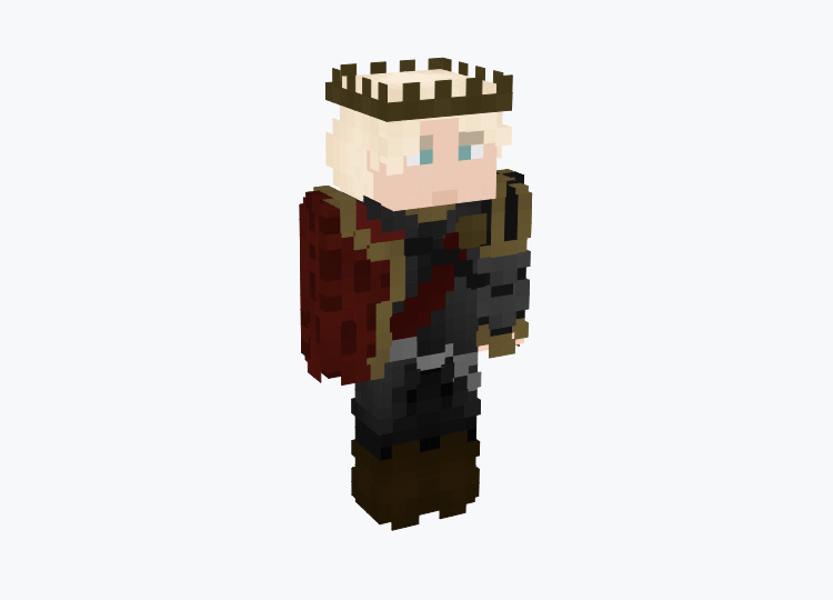 Lord of the Cube Male Blonde King / Minecraft Skin