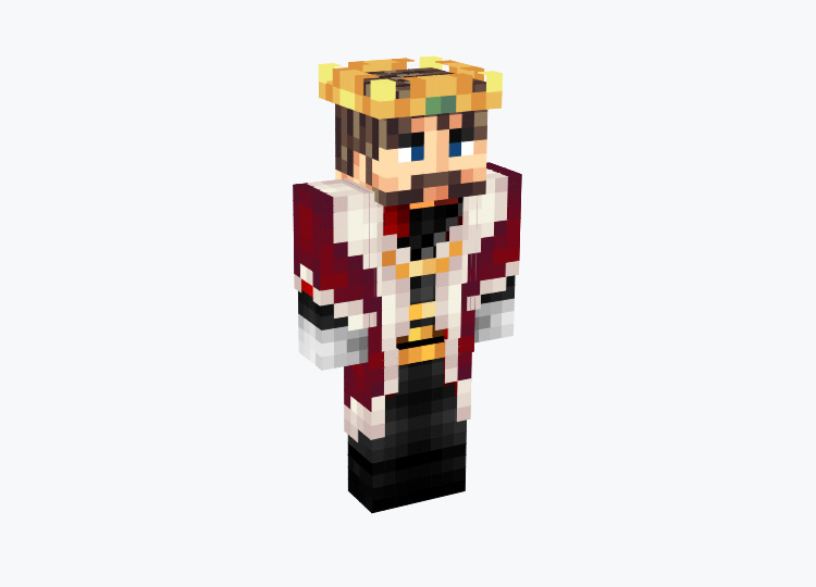 Classic Royal King with Gold Crown / Minecraft Skin