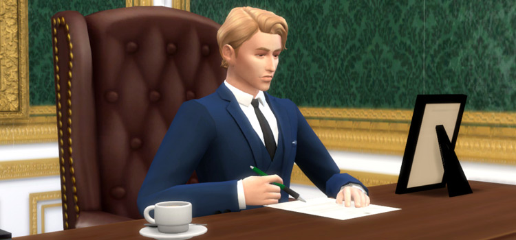Writing Pose & Accessories CC for The Sims 4
