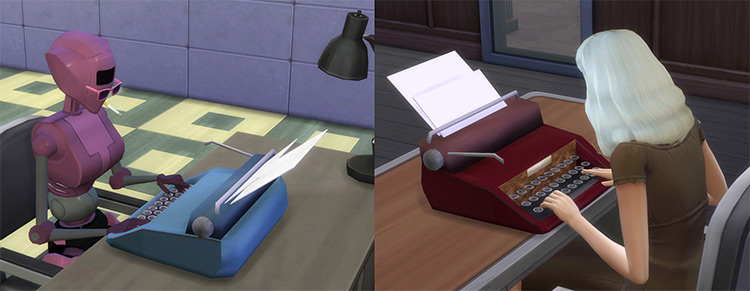 Vintage Typewriter CC for The Sims 4