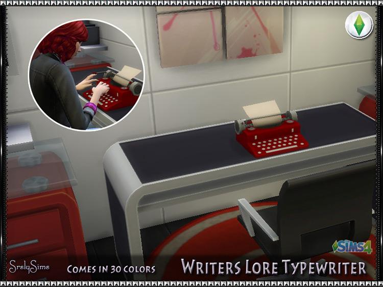 Writer's Lore Typewriter / Sims 4 CC