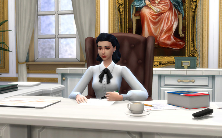 Writing Poses and Pen Accessories / TS4 CC