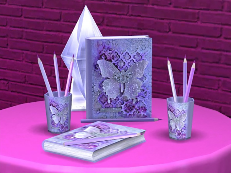 Romantic Writer CC Set for The Sims 4