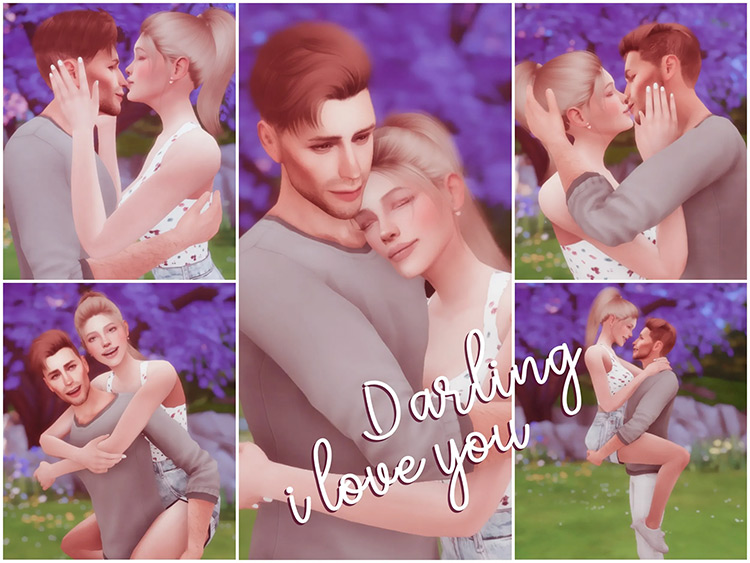 Darling, I Love You Pose Pack / TS4