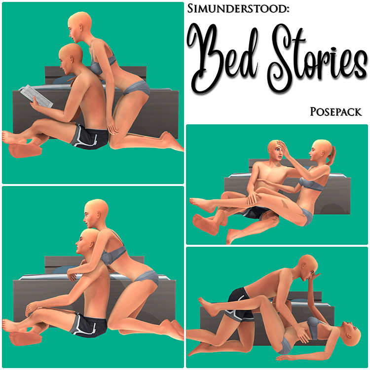 Romantic Bed Stories Poses / TS4