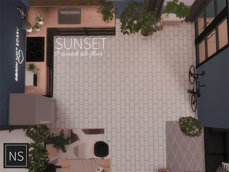 Sunset Flooring / Sims 4 CC
