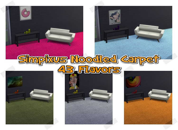 Noodled Carpet Set for The Sims 4