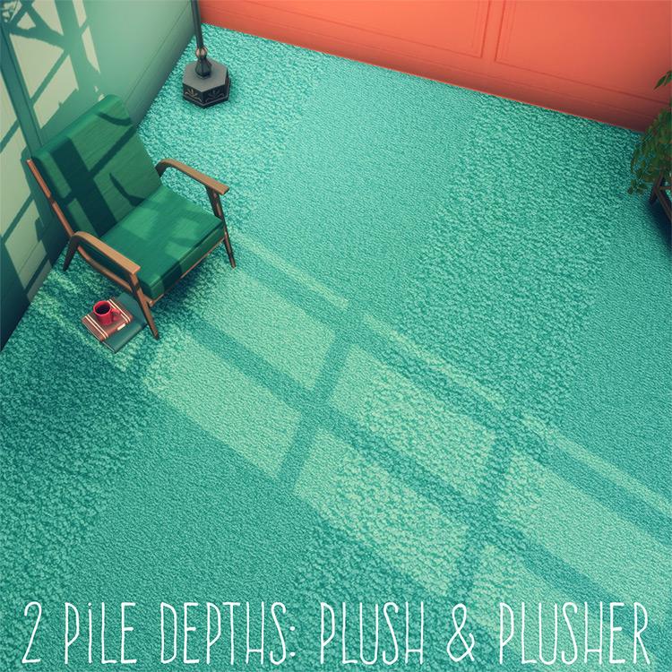 Plush & Plusher Carpeting / Sims 4 CC