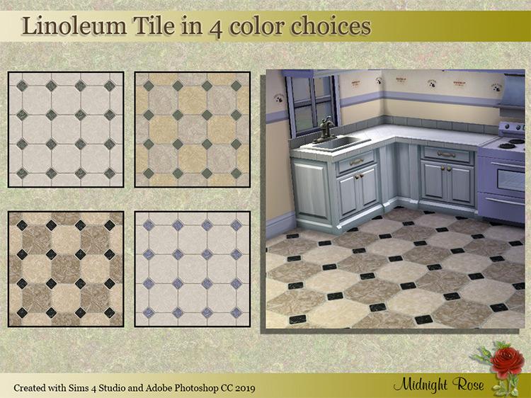 Linoleum Tiles / Sims 4 CC